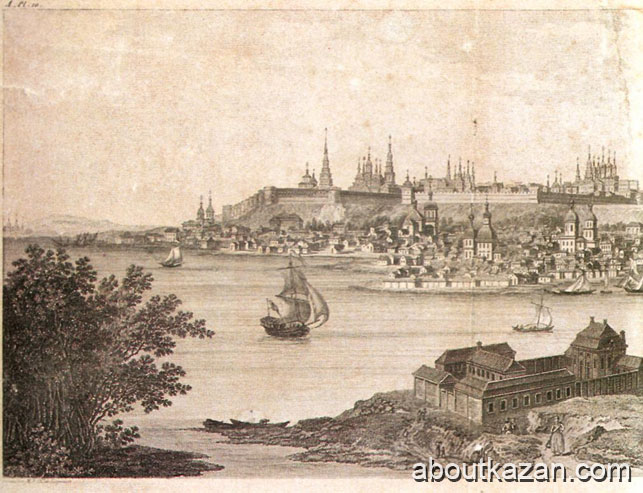 Medieval Kazan city view
