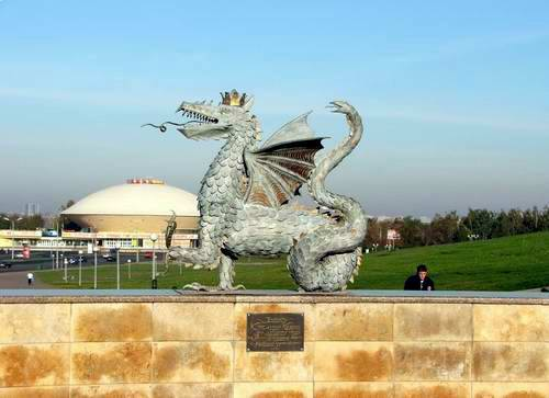 Kazan city central part photos - The dragon (Kazan symbol) photo