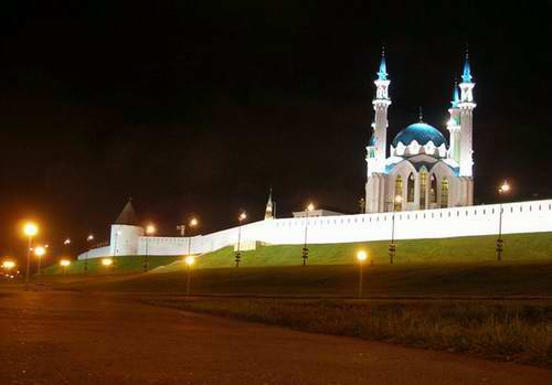 Kazan Kremlin photos - night view photo