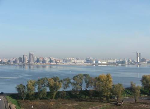 Kazan city modern architecture - Kazanka river right bank view 1st photo