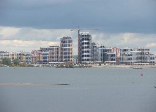 Kazan city modern architecture - Kazanka river right bank view 2nd photo