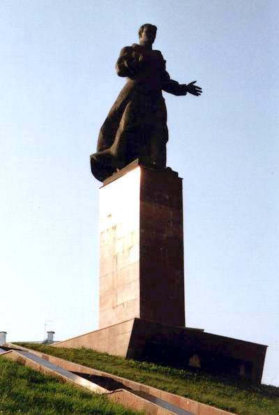 Kazan Russia monument to Vahitov M. photo