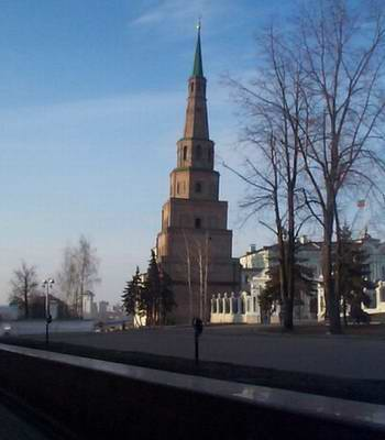 Kazan city of Russia Kremlin history - Suyumbika Tower photo