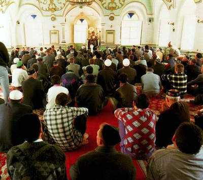 Tatars people of Kazan city in mosque 2nd photo